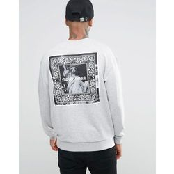 ASOS Oversized Sweatshirt With NYC Gothic Print - Grey