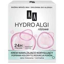 AA Hydro Algi Krem nawilżająco-korygujący wyrównanie kolorytu, zmniejszenie porów