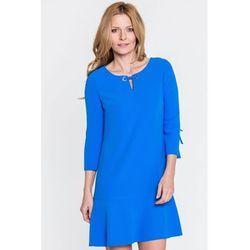 302ea5b432 suknie sukienki alice sukienka dekolt lodka kolor niebieski (od ...