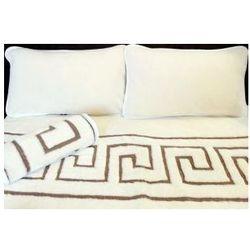 Kaszmir 180x200 45x75 labirynt kołdra poduszki wełna