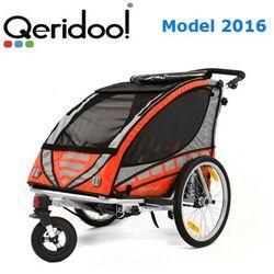 Przyczepka rowerowa Qeridoo Sportex2 Pomarańczowa