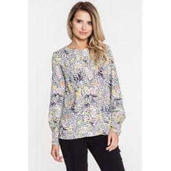 944ca65e1e648c bluzki damskie pudelkowa bluzka w geometryczne wzory bialcon (od ...