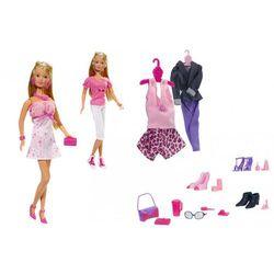Steffi Lalka Duży zestaw z ubrankami