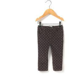 Spodnie welurowe ze wzorem