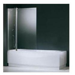 Parawan nawannowy Novellini Aurora 3 z elementem stałym - 98x150 cm, profil srebrny, szkło przezroczyste AURORAN3-1B