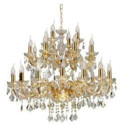 Żyrandol LAMPA wisząca MARIA TERESA 30-94622 Candellux metalowa OPRAWA świecznikowa kryształki złoty