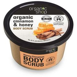 Organic Shop, peeling do ciała, Miodowy Cynamon, 250 ml Darmowa dostawa do sklepów SMYK