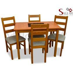 Zestaw DUNAJ I 4 krzesła i stół 58x100