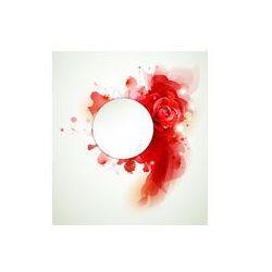 Foto naklejka samoprzylepna 100 x 100 cm - Abstrakcyjne tło z elementami i czerwonych róż