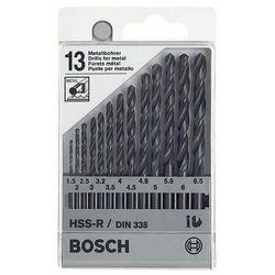 Zestaw wierteł krętych do metalu Bosch 1609200201, HSS, Uchwyt prosty, 1 zest.