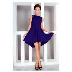 Ekskluzywna sukienka z dłuższym tyłem - chaber 33-5 - najtaniej!