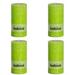 Świece rustykalne, Bolsius (200 x 100 mm) x4 limonka Zapisz się do naszego Newslettera i odbierz voucher 20 PLN na zakupy w VidaXL!