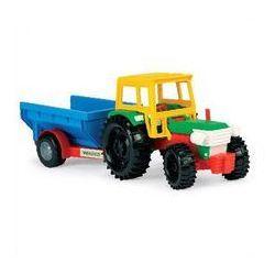 Traktor z przyczepą towarową
