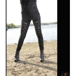spodnie damskie (legginsy) POIZEN INDUSTRIES - Slasher - Black