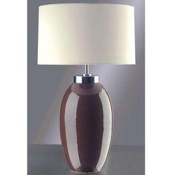 Stojąca LAMPA stołowa LUI/VICTOR SM BR+LUI/LS1030 Elstead ceramiczna LAMPKA abażurowa brązowy kremowy