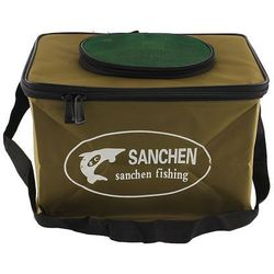 New Durable Foldable Fabric Portable Canvas square Fish Bucket Tackle Box Water Pail for Fishing Outdoors S Size Fishing Bag