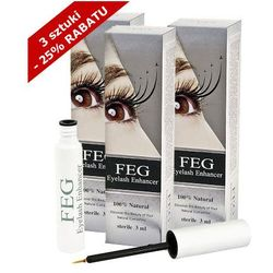 FEG - FEG Eyelash Enhancer x 3 - Odżywka do rzęs wzmacniająca - ZESTAW 3 SZTUKI w promocyjnej cenie - 3 ml x 3