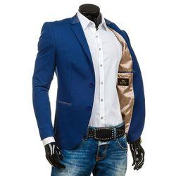 Niebieska marynarka męska elegancka Denley RBR156 - NIEBIESKI