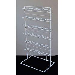 Stojak biały 6 poziomów z zawieszkami