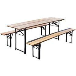 Stół ogrodowy HOME&GARDEN piwny z 2 ławkami (200 x 60 cm) + DARMOWY TRANSPORT!
