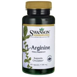 Swanson L-Arginina 500mg 100 kaps.