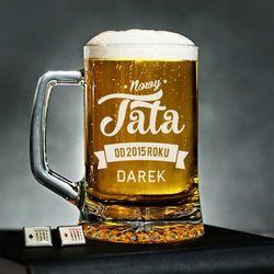 Nowy Tata - Personalizowany Kufel - Kufel do piwa