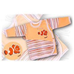 Kaftanik niemowlęcy zapinany z boku Aqua 56-62 łosoś