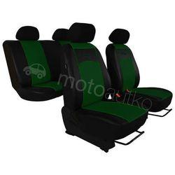 Pokrowce samochodowe uniwersalne Eko-skóra Zielone BMW Seria 1 E81/E87 2004-2013 - Zielony