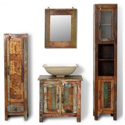 Zestaw łazienkowy drewniane szafki i lustro Zapisz się do naszego Newslettera i odbierz voucher 20 PLN na zakupy w VidaXL!