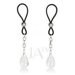 Calexotics Nipple Play Non Piercing Nipple Jewellery Crystal Zaciski na sutki z ozdobnymi kamieniami przezroczyste