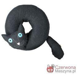 Poduszka do siedzenia Lilyshop Kot ciemnoszara z błękitnymi oczami