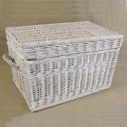 Kufer płaski przecierany biały ( 4 wymiary )