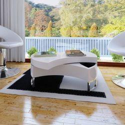 vidaXL Stolik do salonu rozsuwany, biały, wysoki połysk Darmowa wysyłka i zwroty