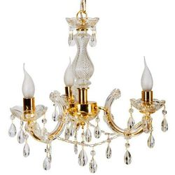 Żyrandol LAMPA wisząca MARIA TERESA 33-94639 Candellux metalowa OPRAWA świecznikowa kryształki złoty
