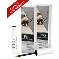 FEG - FEG Eyelash Enhancer x 2 - Odżywka do rzęs wzmacniająca - ZESTAW 2 SZTUKI w promocyjnej cenie - 3 ml x 2