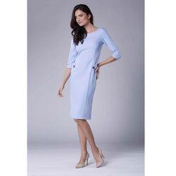 255baf110b suknie sukienki sukienka guzikami (od Błękitna Stylowa Sukienka ...