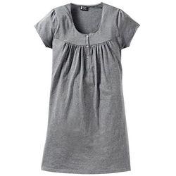 Koszula nocna ciążowa i do karmienia bonprix szary melanż