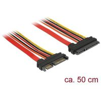 KABEL SATA DATA III (6 GB/S) 22 PIN(F)->SATA 22 PIN(M) 50CM DELOCK
