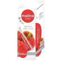 Malina z witaminą C naturalny sok 500ml