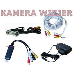Monitoring klatki schodowej lub otoczenia przed drzwiami - kamera wizjer + konwerter usb- ZESTAW