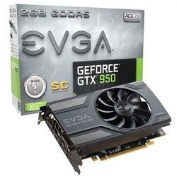 Karta graficzna EVGA GeForce® GTX 950 Superclocked, 2GB GDDR5 (128 Bit), HDMI, DVI, 3xDP - 02G-P4-2951-KR