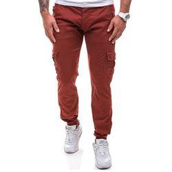 Bordowe spodnie joggery bojówki męskie Denley 0802 - BORDOWY