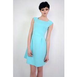Elegancka sukienka bez rękawów Colette turkusowa