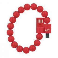 Kabel bransoletka beeyo micro USB czerwona