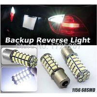 1x High efficiency Super Bright 68 SMD LED Car 1156 382 Tail Parking 21W Car Motorcycle led Turn Light/Brake lights/ Parking