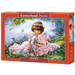 Puzzle Castorland. 1000 elementów.(C-103249) Dziewczynka z pieskiem + zakładka do książki GRATIS