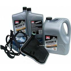 Olej Dextron ATF VI oraz filtr oleju automatycznej skrzyni biegów AX4S Ford Taurus
