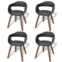 Krzesła do jadalni Drewno+Skóra x4 Zapisz się do naszego Newslettera i odbierz voucher 20 PLN na zakupy w VidaXL!