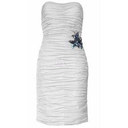 Klasyczna drapowana sukienka z szyfonu Arena Stylu, biała 924 -5