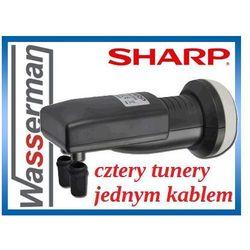 Konwerter LNB SHARP SINGLE CABLE (QUAD 1-kablem)
